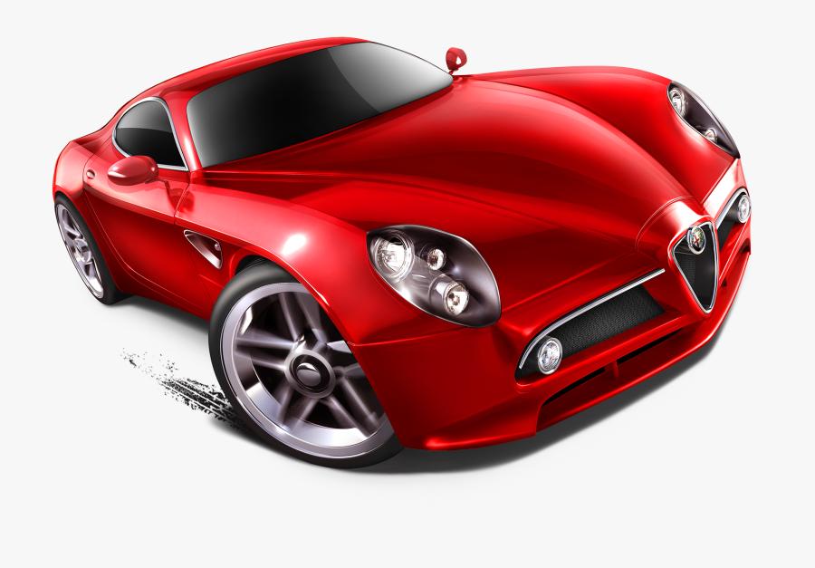 Alfa Romeo Png Red Hot Wheel Car - Red Car Hot Wheels, Transparent Clipart