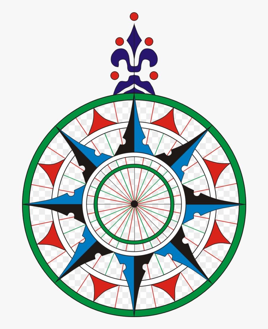 Compass Wind Rose Clipart Transparent Png - Compass Rose, Transparent Clipart