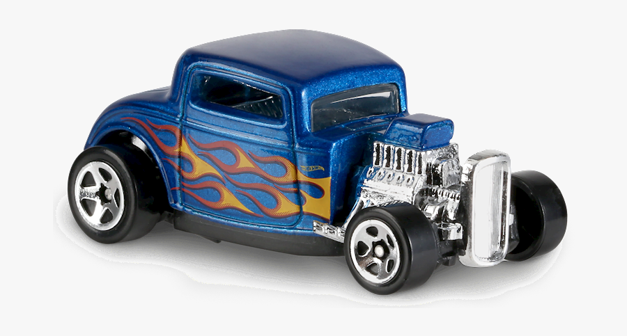Ford In Blue - Hot Wheels Car With Flames, Transparent Clipart