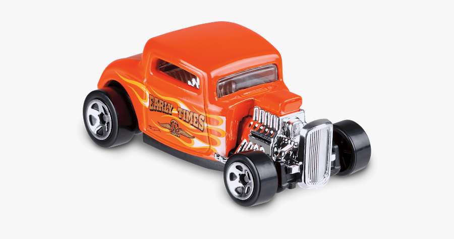 Ford In Orange - Hot Wheel Car 32 Ford, Transparent Clipart