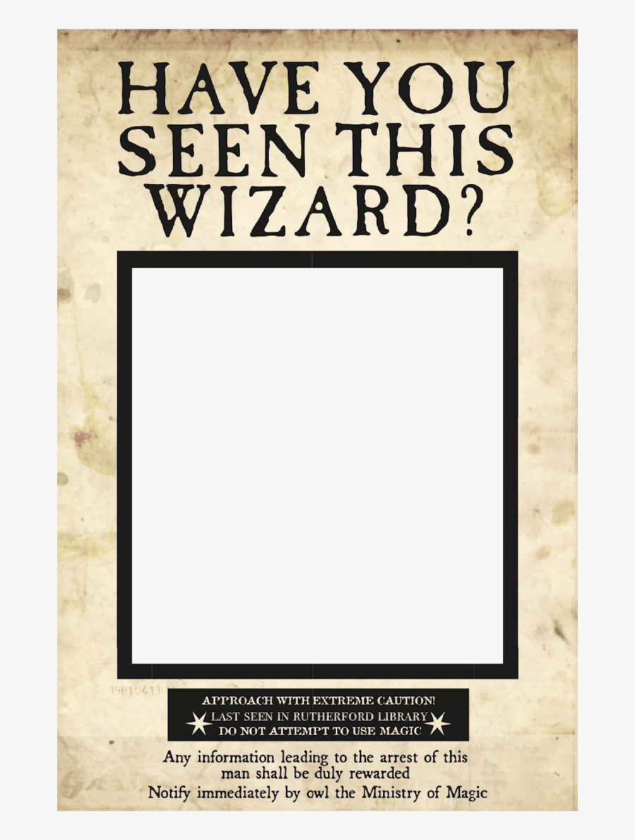 Paper Printable Transparent Wanted Posters Templates - Have You Seen This Wanted Poster, Transparent Clipart