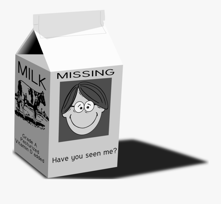 Carton,brand,packaging And Labeling - Milk Carton Cartoon Missing, Transparent Clipart