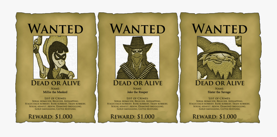 Transparent Wanted Poster Template Png - Student Council Wanted Poster, Transparent Clipart
