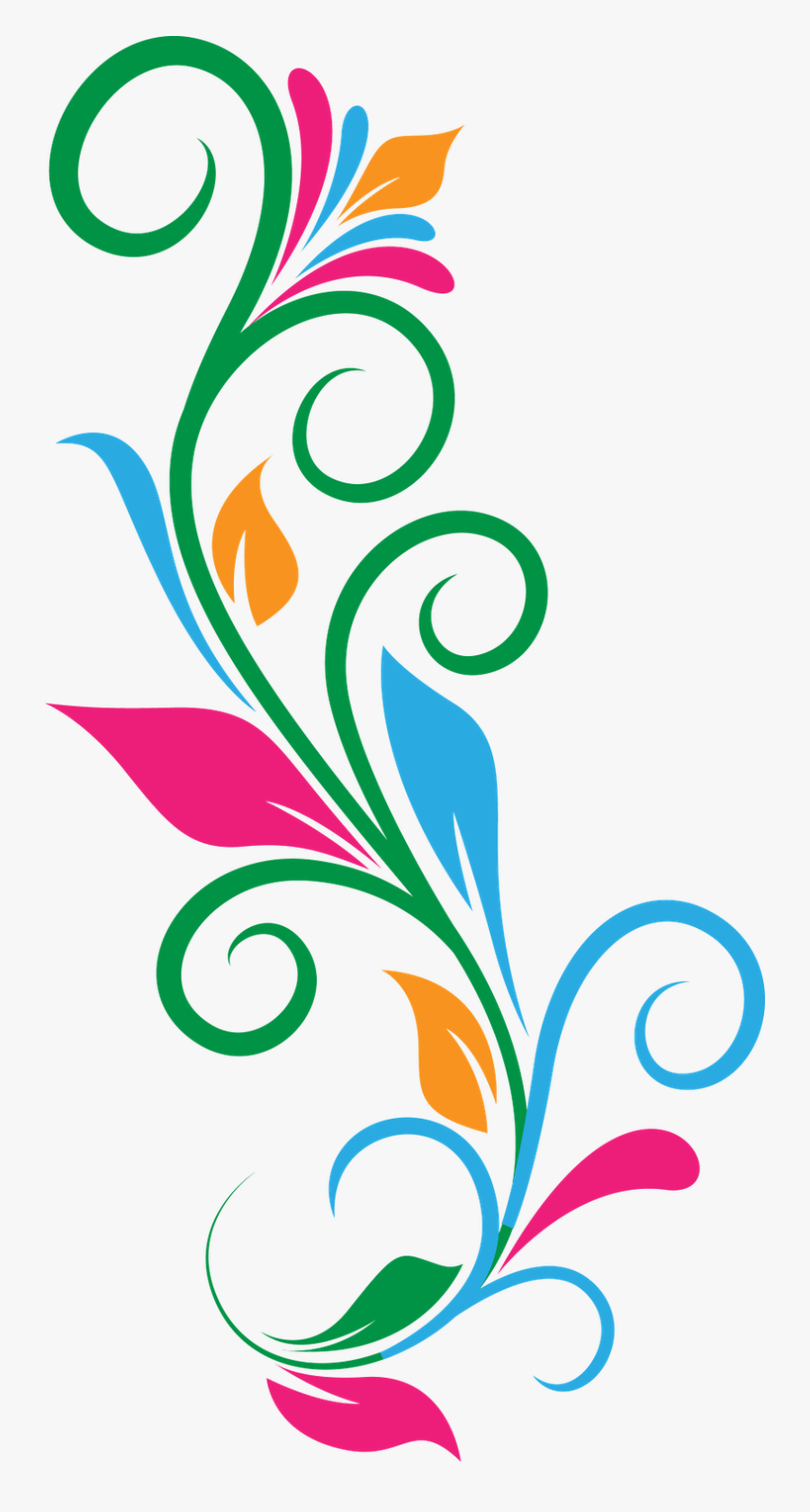 Clipart Design Abstract - Flower Abstract Design Png, Transparent Clipart