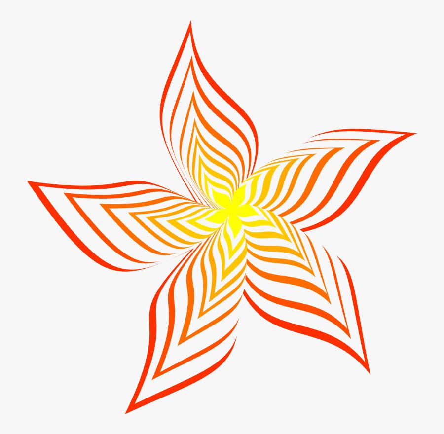 Petal,plant,flower - Colour Line Art Design, Transparent Clipart