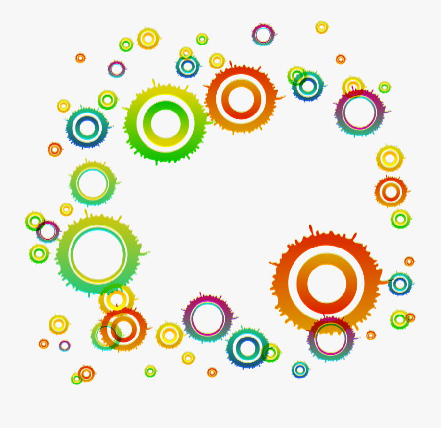 Circle Geometry Clip - Abstract Clipart Circle Design Png, Transparent Clipart