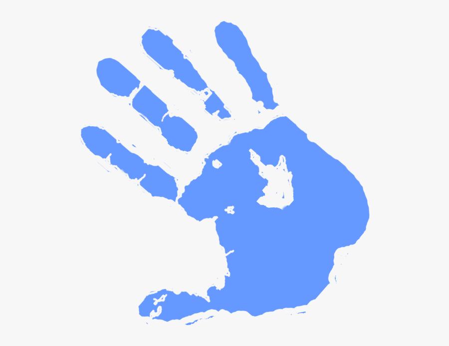 Light Blue Paint Splat Colouring Pages Clipart Free - Paint Color Hand Png, Transparent Clipart