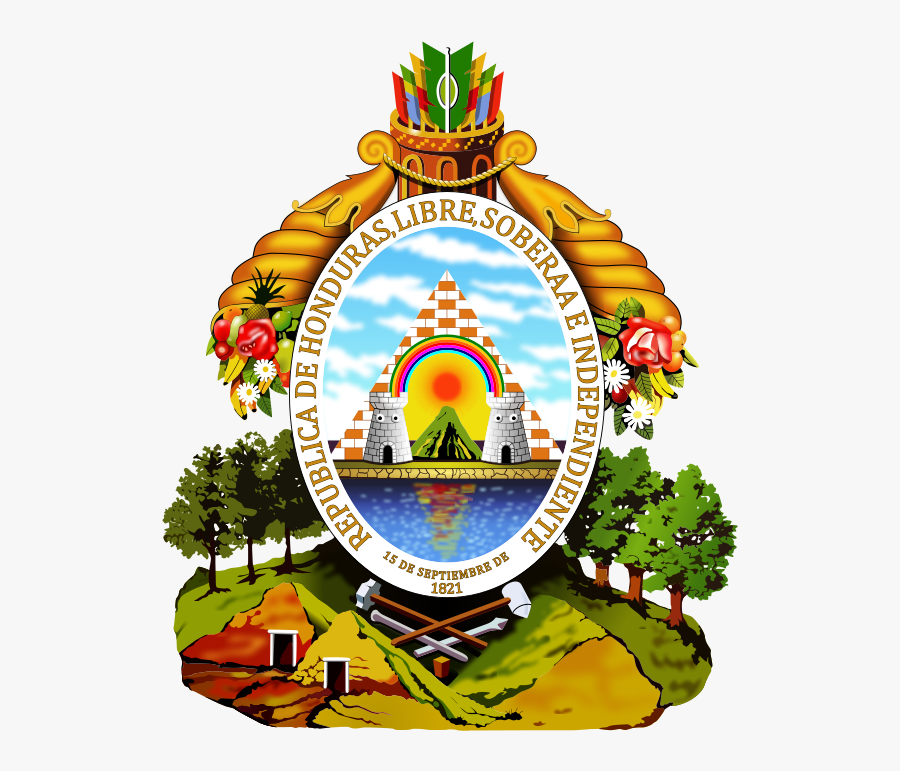 The Nations Of The Southern Cone Of South America Also - Honduras Coat Of Arms, Transparent Clipart