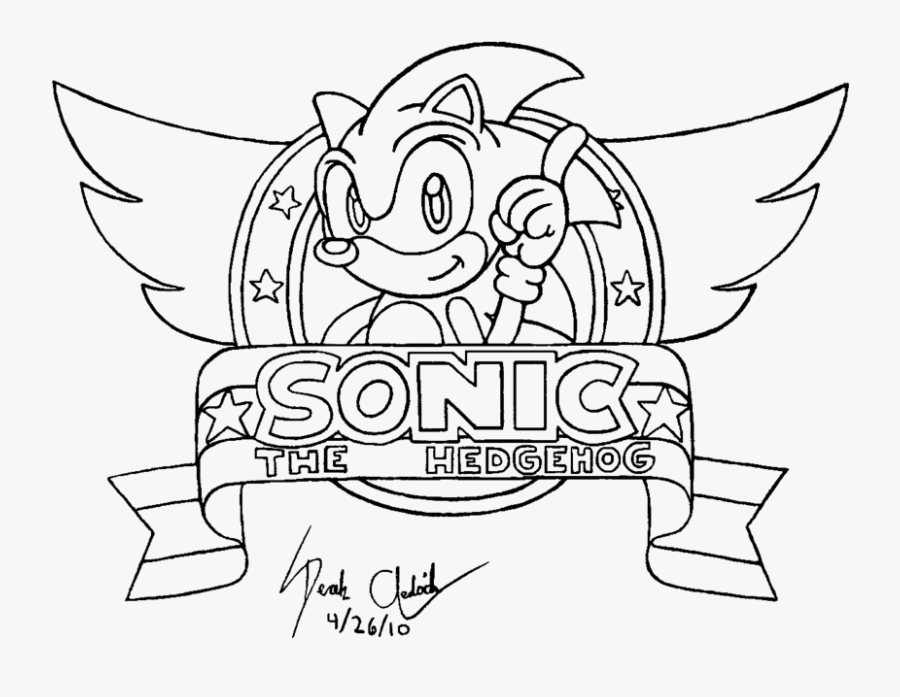 Sonic The Hedgehog Logo Drawing Free Transparent Clipart Clipartkey