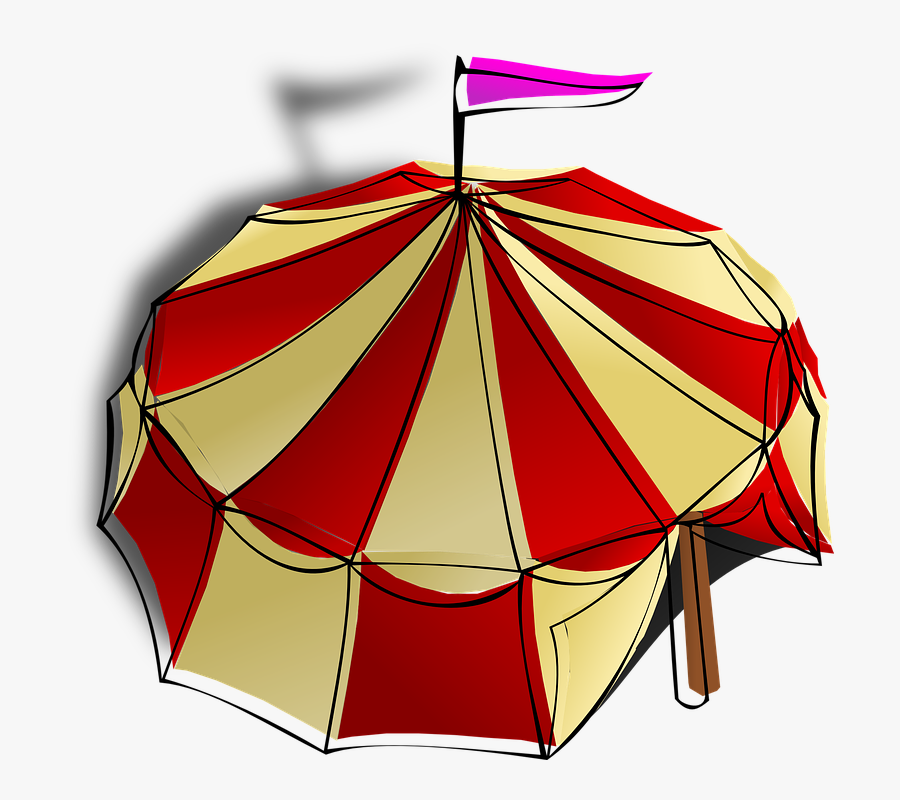 Circus Tent Clip Art, Transparent Clipart
