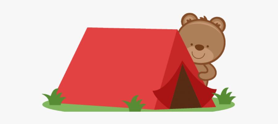 Cute Camping Tents Clip Art, Transparent Clipart
