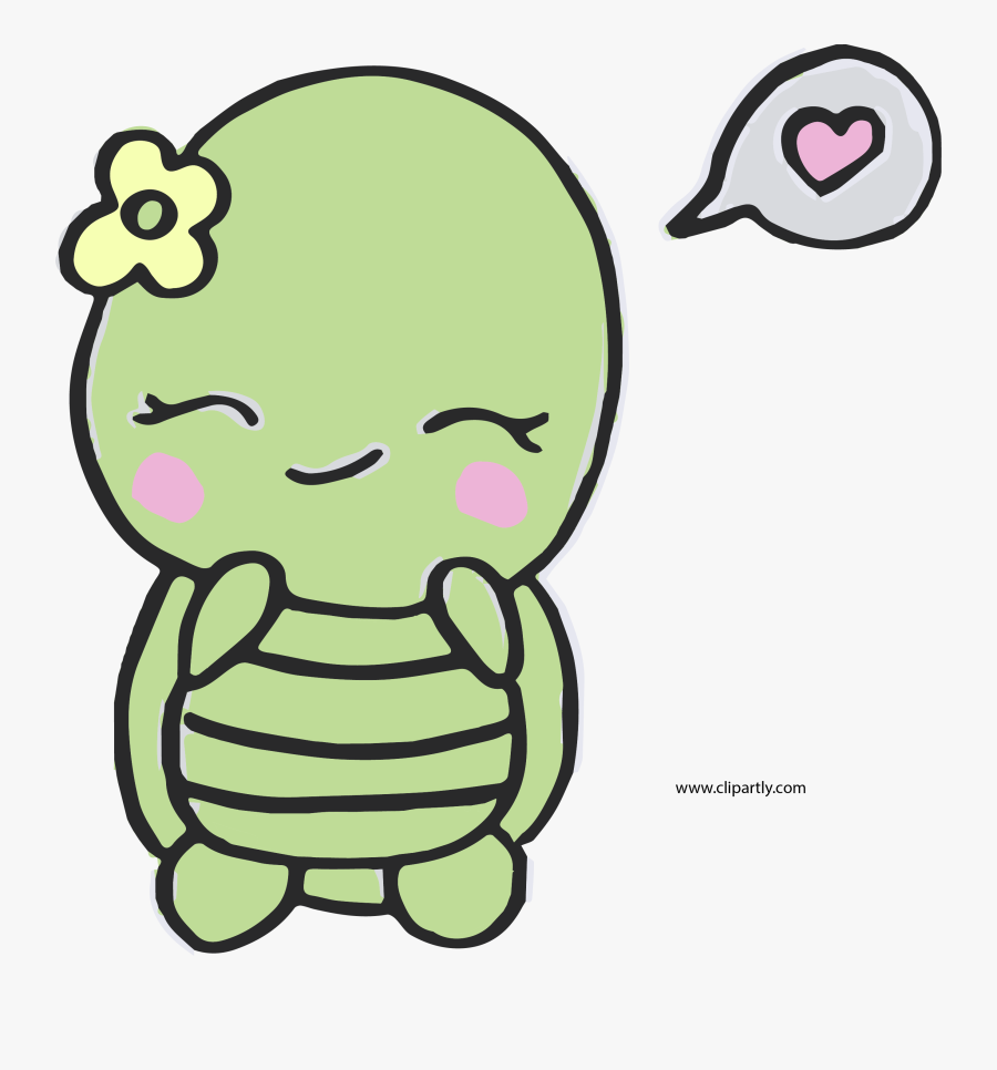 Sweet And Cute Turtle Easy Png Clipart Easy Cute Drawings Of