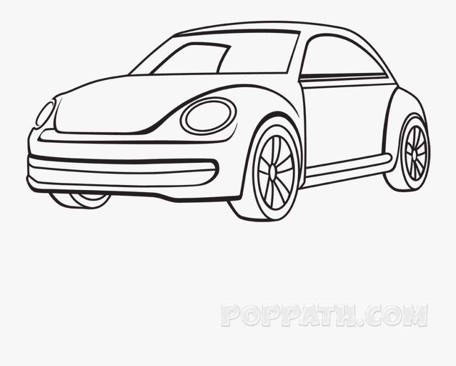 Collection Of Free Corvette Drawing Simple Download - Simple Car Drawing, Transparent Clipart