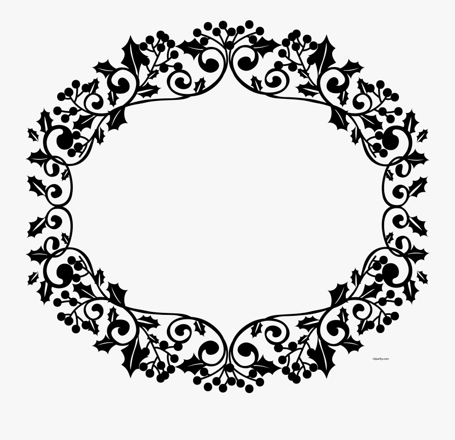 Christmas Border Flower Clipart Png - Circle, Transparent Clipart