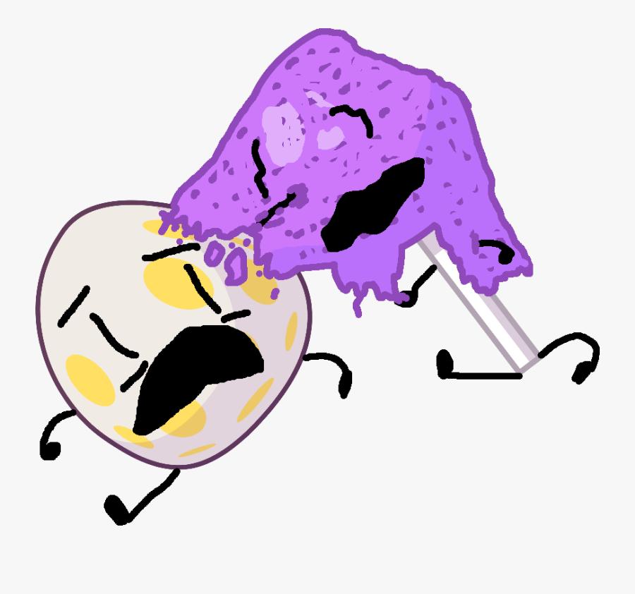 Clip Library Download Image Lollipop On Eggy Png Battle - Bfb Gaty And Lollipop, Transparent Clipart