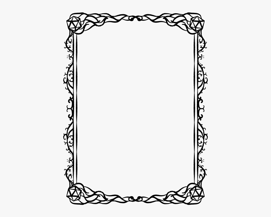 Christmas Borders Black And White - Dungeons And Dragons Border, Transparent Clipart