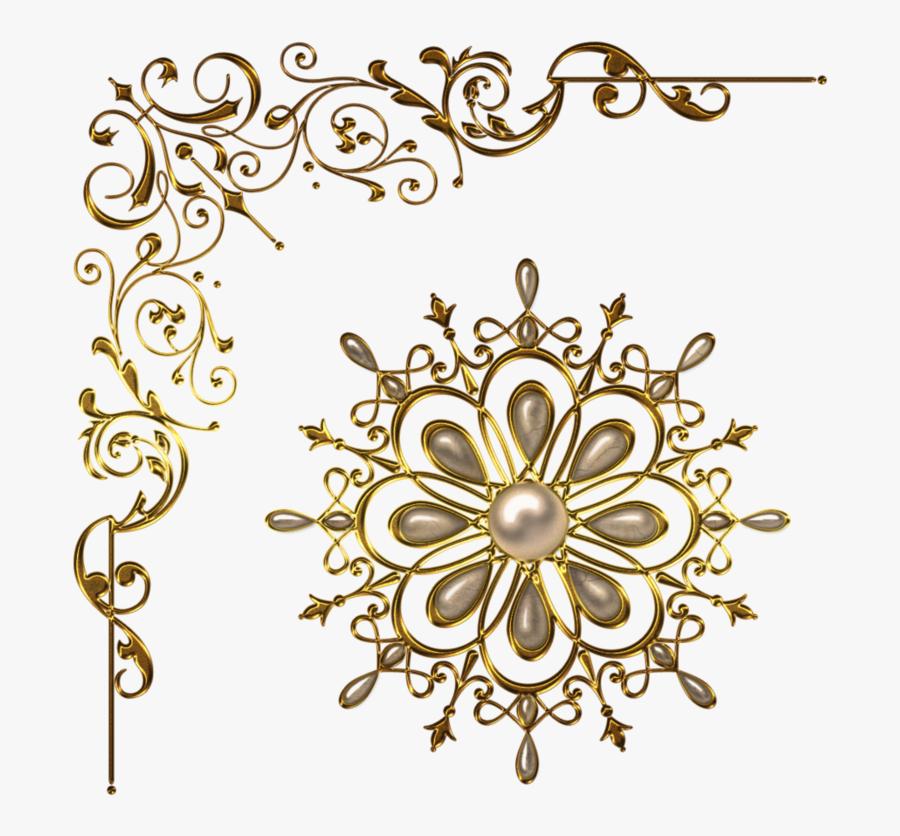 Snowflake Corner Border Clipart No Background - Vintage Corner Border Design Png, Transparent Clipart