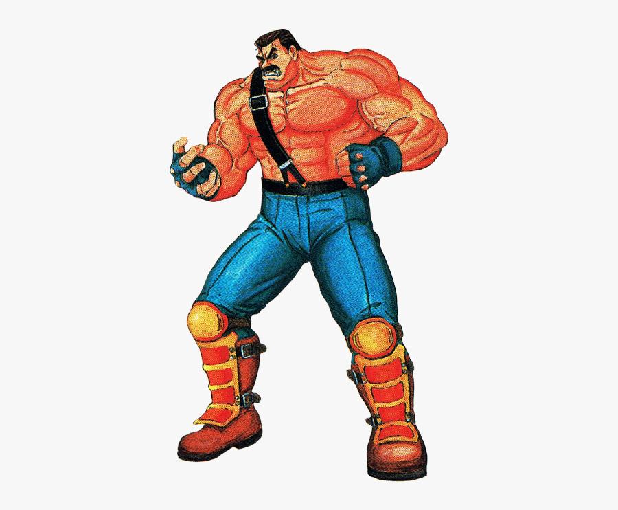 Clip Art Haggar Final Fight - Final Fight Main Characters, Transparent Clipart