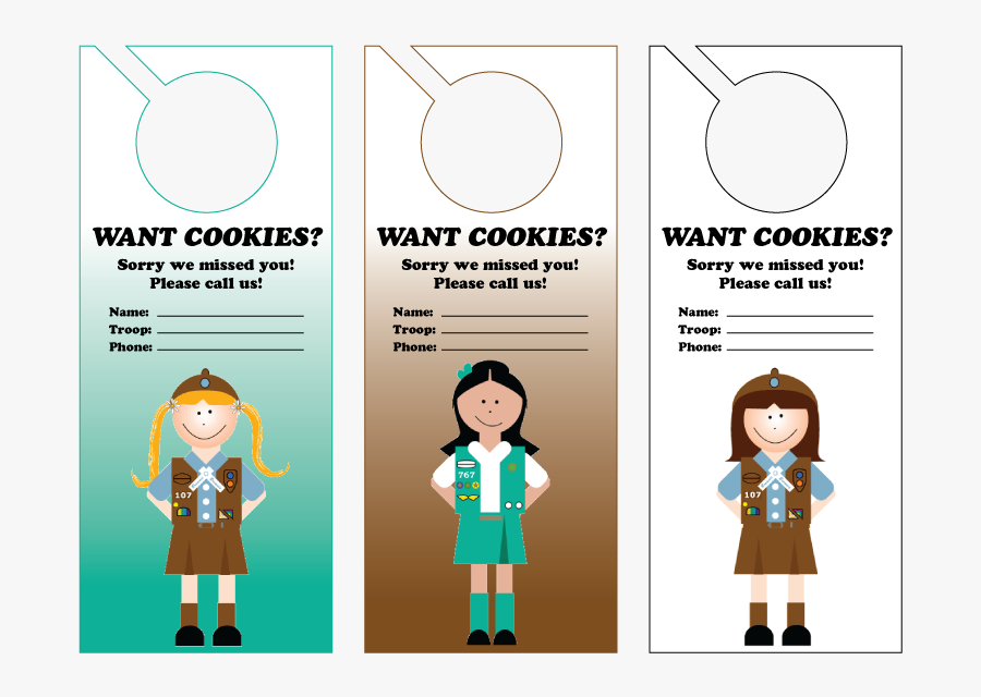 Girl Scout Cookie Door Hanger - Do You Need Girls Scout Cookies, Transparent Clipart