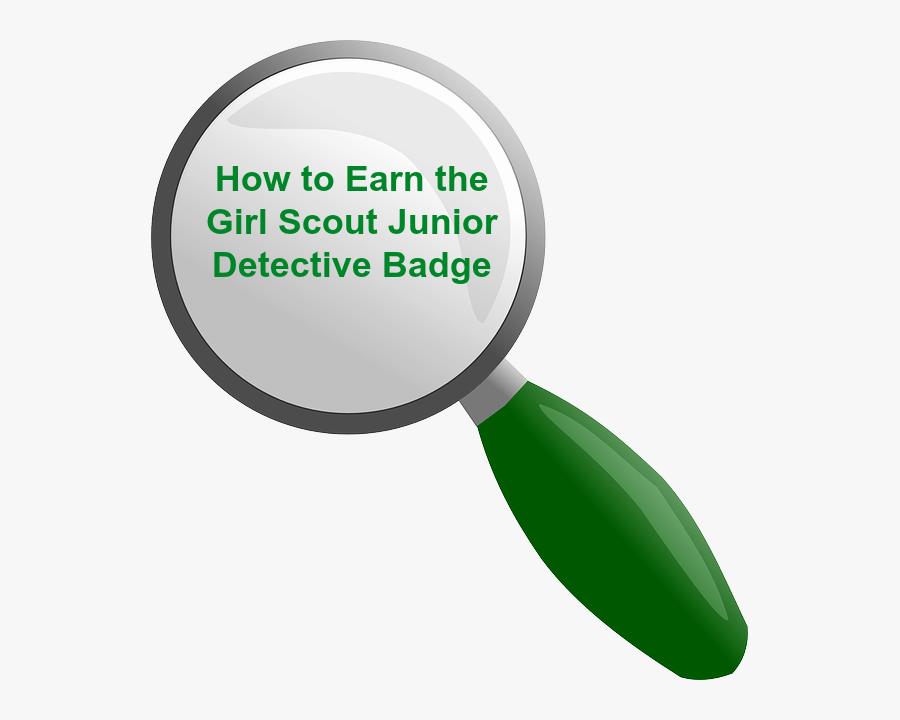 Transparent Girl Scout Clipart - Girl Scout Detective Badge Handwriting Details, Transparent Clipart