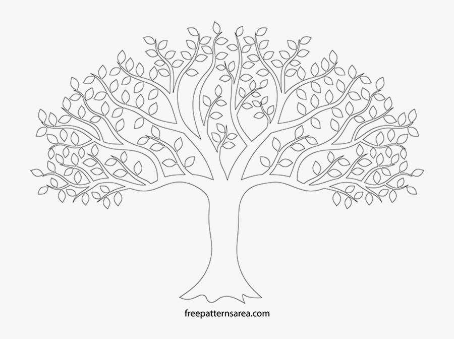 Transparent Tree Line Png - Line Drawing Trees Transparent Background, Transparent Clipart