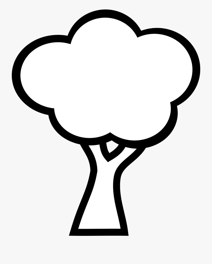 Free Vector Graphic - Tree Clipart Black And White, Transparent Clipart