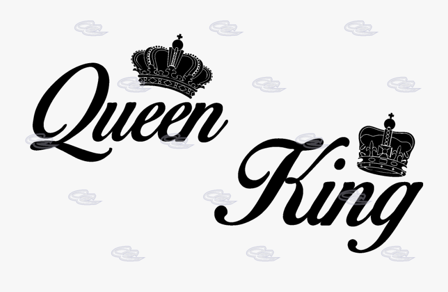 Transparent Queen Crown Clipart Black And White - King And Queen Transparent, Transparent Clipart