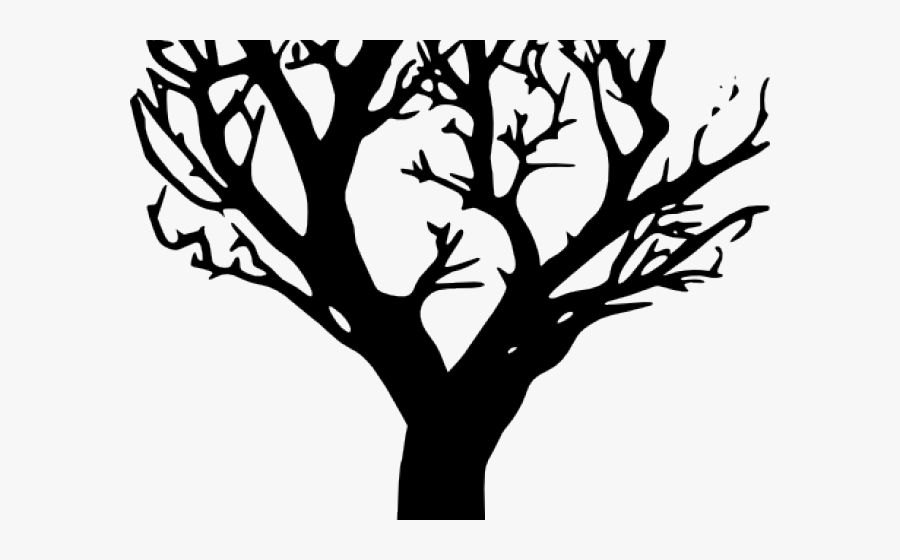 Dead Tree Clipart Tree Outline - Black Tree Vector Png, Transparent Clipart