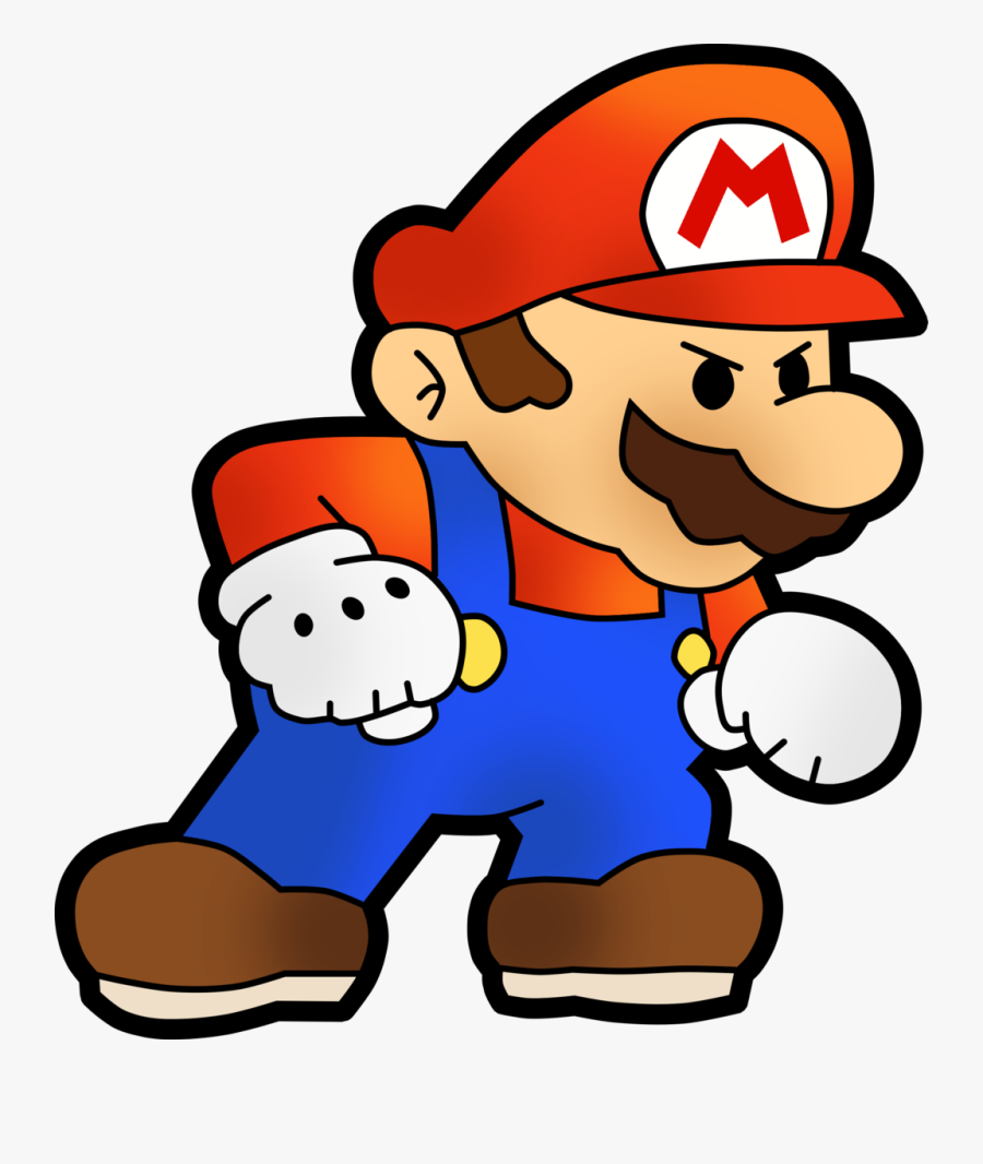 Mario Png - Angry Paper Mario Png, Transparent Clipart