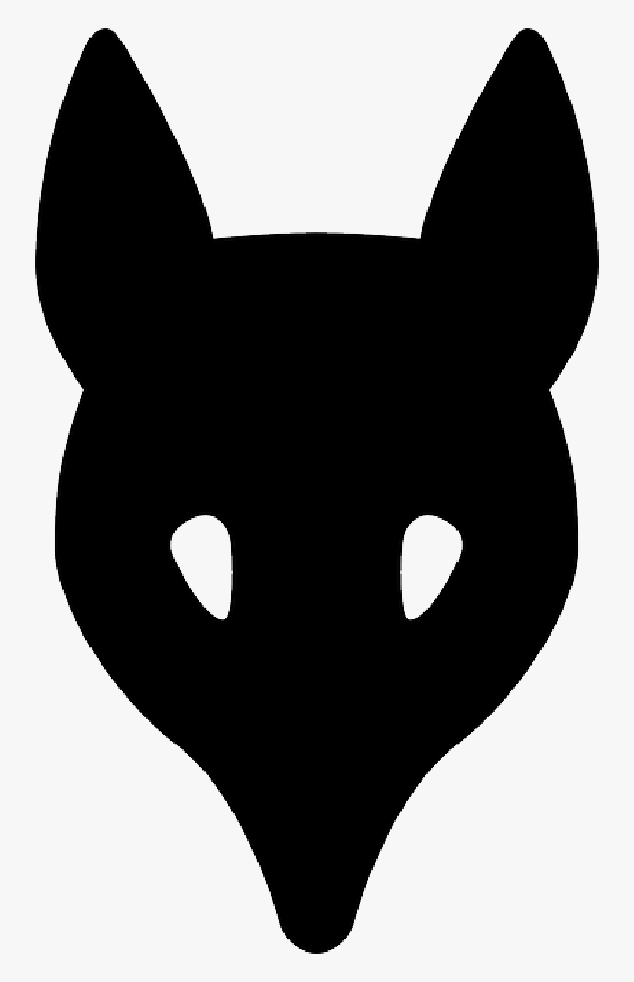 Silhouette Of Fox Head, Transparent Clipart