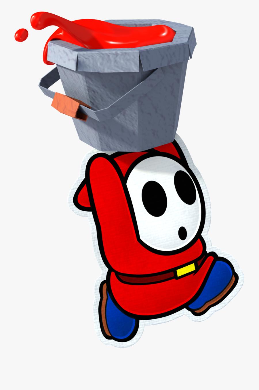 Super Mario Wiki Β - Shy Guy Paper Mario Color Splash, Transparent Clipart