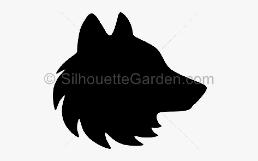 Wolf Head Silhouette - Wolf Head Side Silhouette, Transparent Clipart