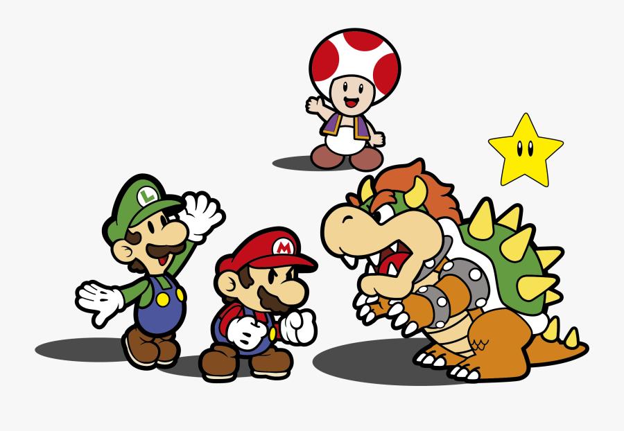 Super Mario Bros Luigi Saga Bowser Transprent - Mario Bros Vector Pack, Transparent Clipart