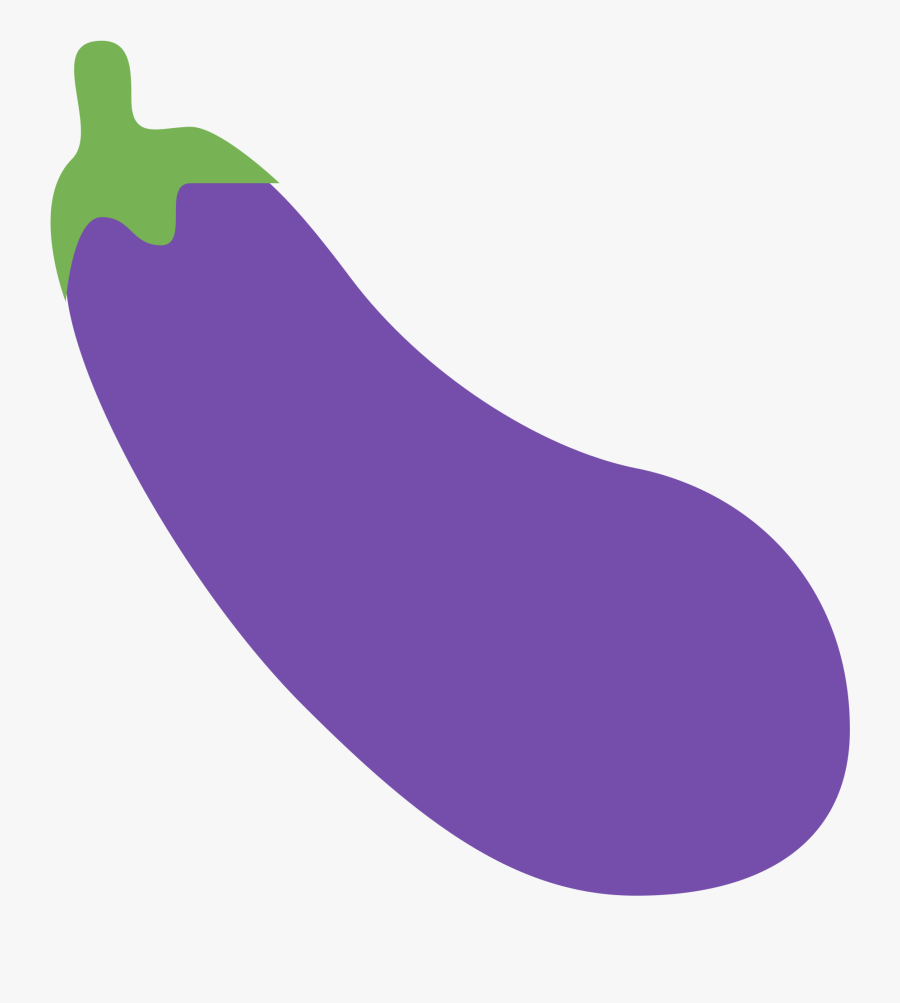 Eggplant Vector Picture Black And White Stock - Eggplant Emoji Twitter, Transparent Clipart