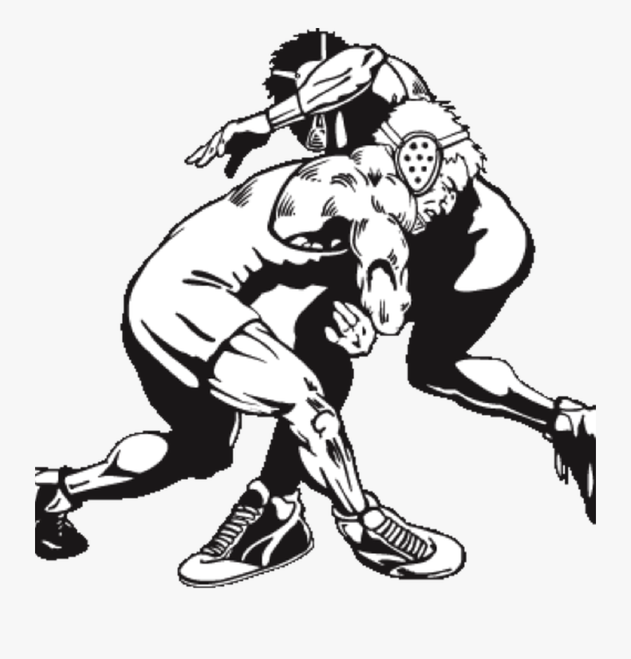Wrestling Images Black And White, Transparent Clipart