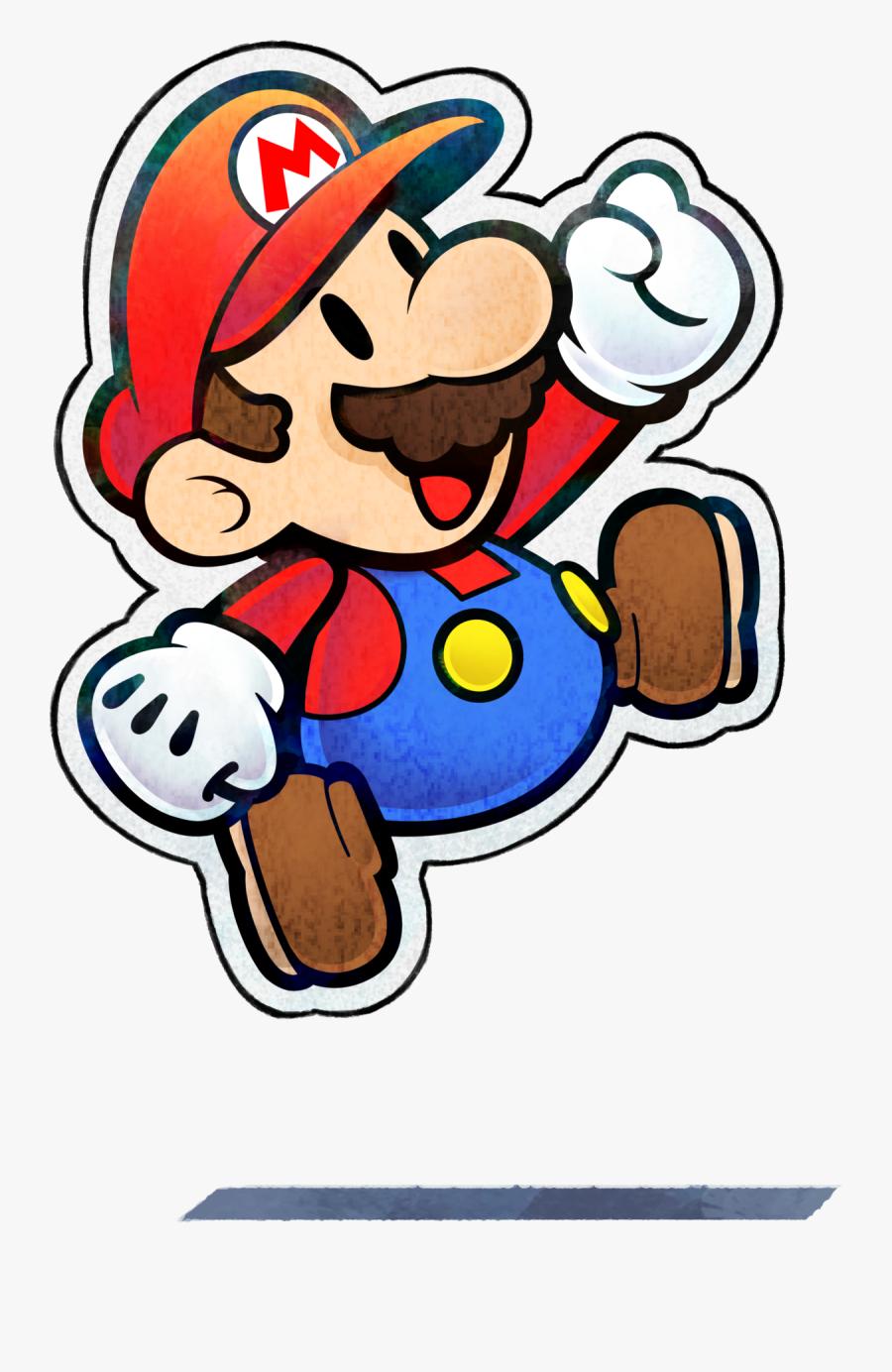 Paper Mario - Mario & Luigi Paper Jam Paper Mario, Transparent Clipart