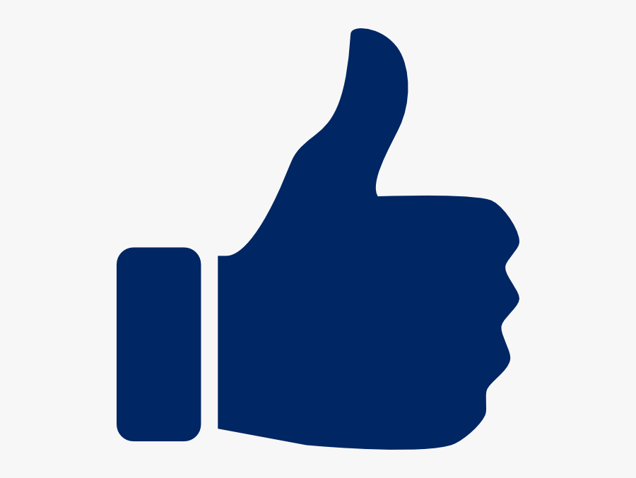 X Clipart Thumb - Blue Thumbs Up Icon, Transparent Clipart