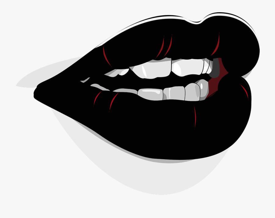 Character Clip Art Art Big Red Lips Cartoon Free Transparent Clipart Clipartkey