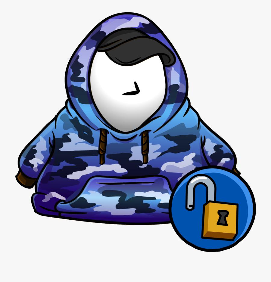 Blue Hip Hop Hoodie - Club Penguin Dragon Costumes, Transparent Clipart