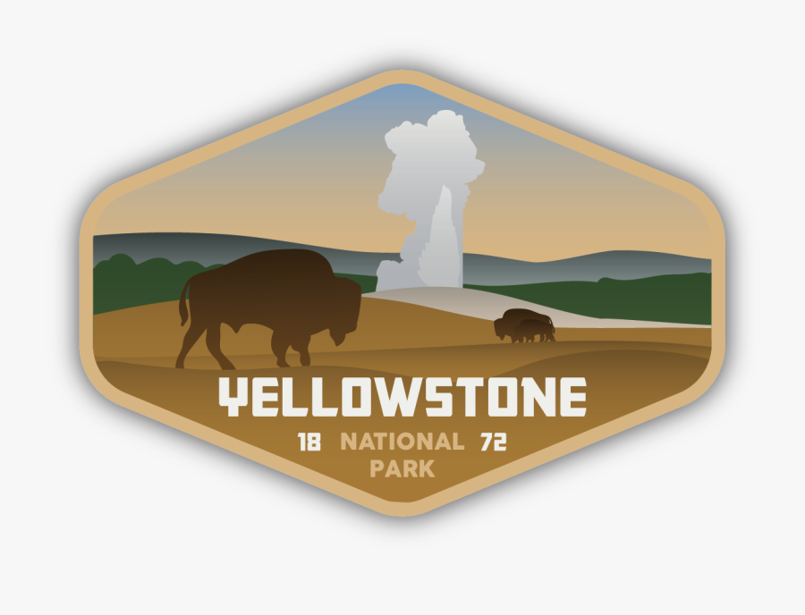 Yellowstone National Park Sticker - Yellowstone National Park Clipart, Transparent Clipart