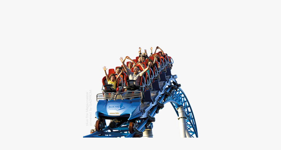 Amusement Park Png Transparent Image - Roller Coaster Ride Png, Transparent Clipart