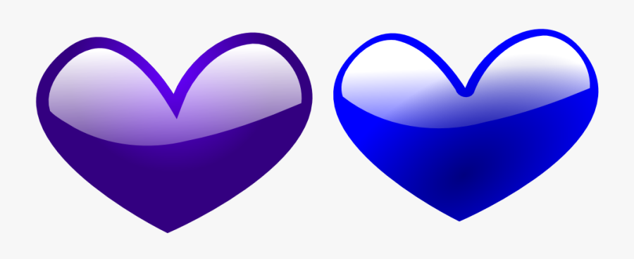 Another Heart Marriage Equality I Support Love Red - Blue Heart And Purple Heart, Transparent Clipart