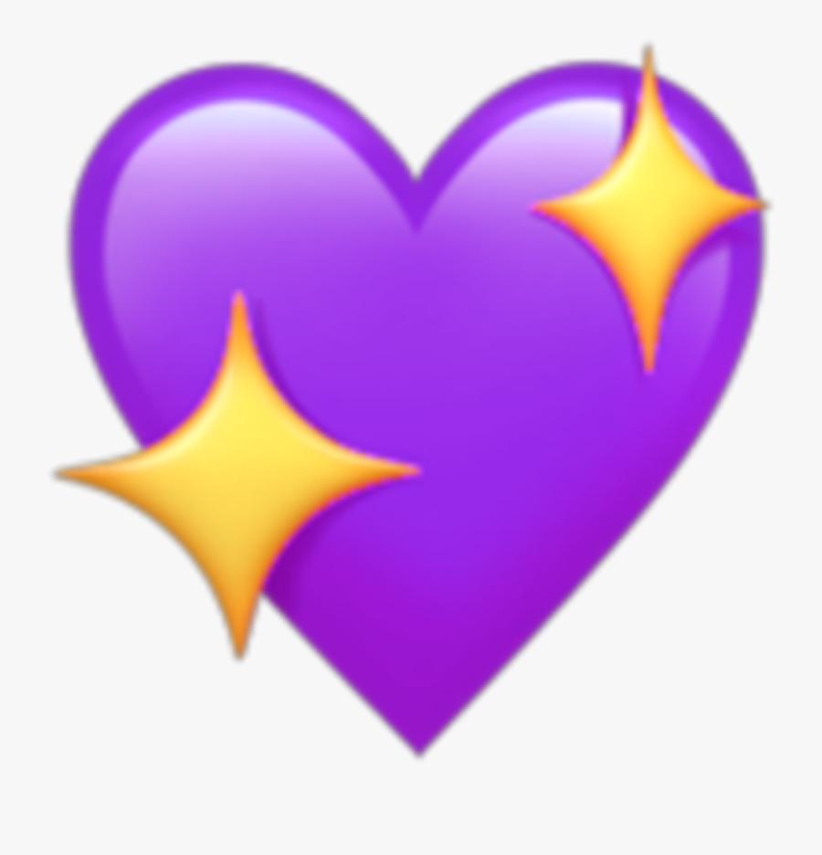 Transparent Purple Heart Clipart - Transparent Heart Emoji, Transparent Clipart