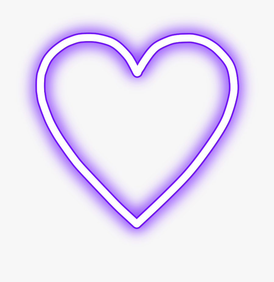Transparent Purple Heart Clipart - Transparent Png Neon Heart, Transparent Clipart