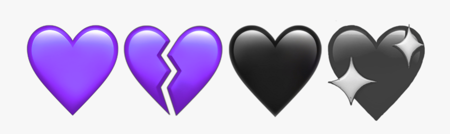 #purple #hearts #heart #broken #heartbroken #aesthetic - Green Broken Heart Emoji, Transparent Clipart