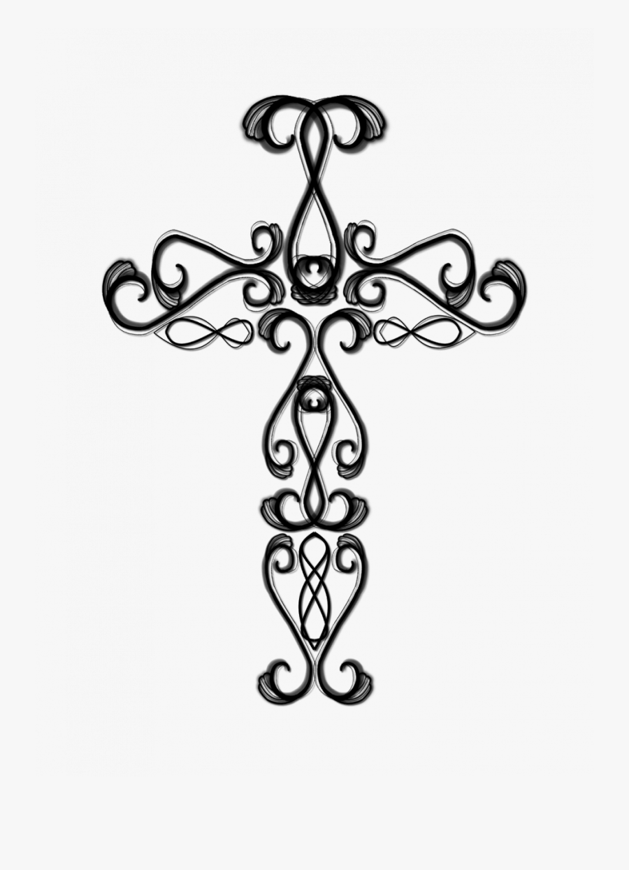 Christian Cross Coloring Pages - Drawing Cross, Transparent Clipart