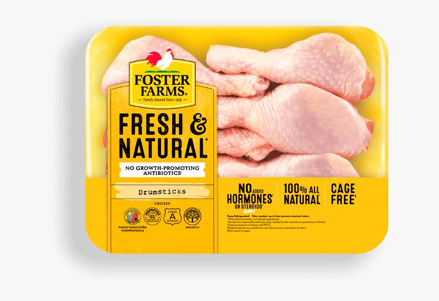Transparent Chicken Drumstick Clipart - Foster Farms Chicken Thighs, Transparent Clipart