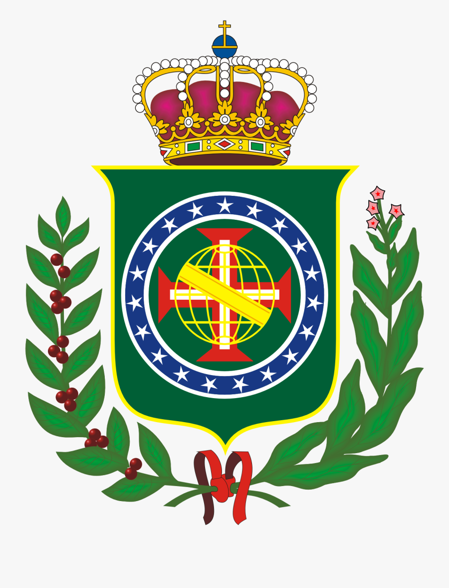 Regent - Clipart - Brazil Empire Coat Of Arms, Transparent Clipart