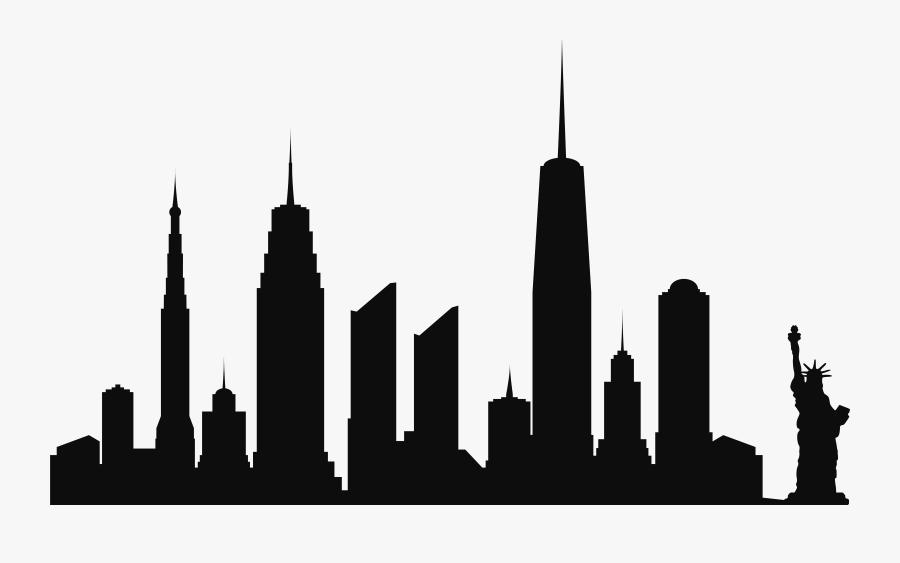 Clip Art New York City Png - Silhouette City Skyline Transparent, Transparent Clipart