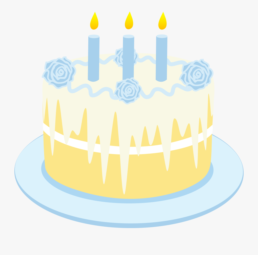 Free Clipart Birthday Cake With Candles - Animated Vanilla Cake, Transparent Clipart